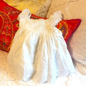 GAP girl Summer dress camisole white lace cotton👗